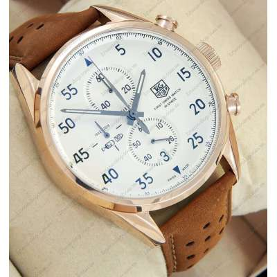 TAG Heuer Carrera 1887 SpaceX Chronograph Gold/White
