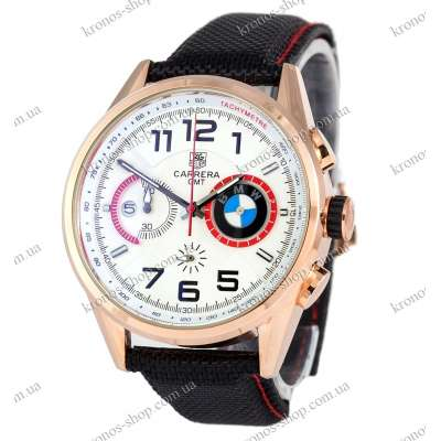 Tag Heuer Carrera BMW Chronograph Black/Gold/White-Red