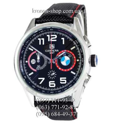 Tag Heuer Carrera BMW Chronograph Black/Silver/Black-Red