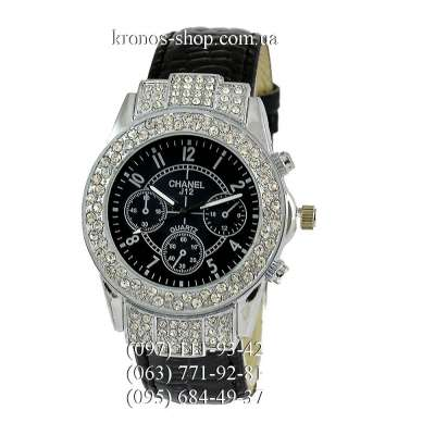 Chanel J12 Quartz Diamonds Black/Silver/Black
