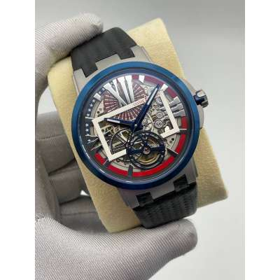 Ulysse Nardin Executive Skeleton Tourbillon Black/Grey/Blue/Red