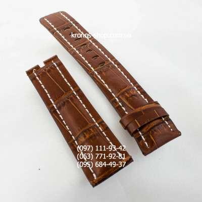 Ремешок для часов Breitling Brown/White (24х20 мм)