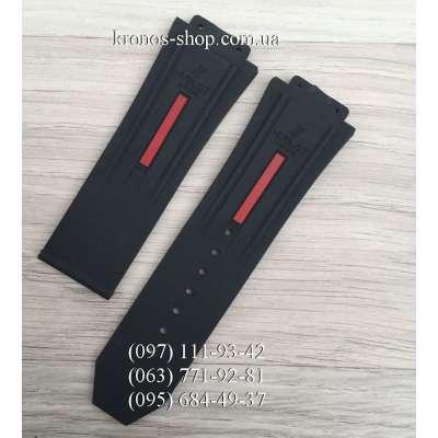 Ремешок для часов Hublot King Power Black/Red (28х24 мм)