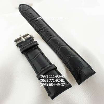 Ремешок для часов Patek Philippe Classic Black/Silver (22х20 мм)