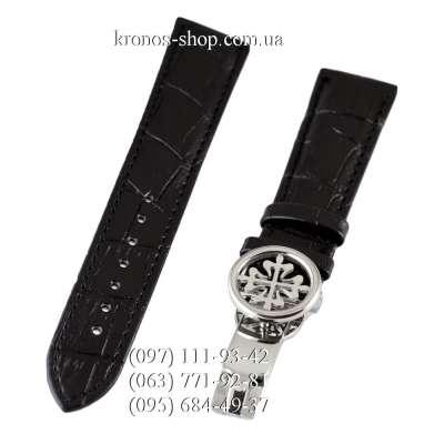 Ремешок для часов Patek Philippe Sky Moon Butterfly Black/Silver (20х18 мм)