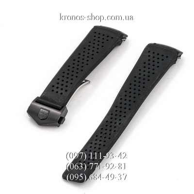 Ремешок для часов Tag Heuer Carrera Rubber Butterfly All Black (22х20 мм)