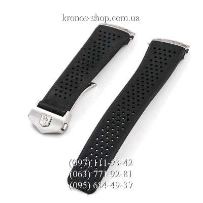 Ремешок для часов Tag Heuer Carrera Rubber Butterfly Black/Silver (22х20 мм)
