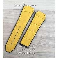 Ремешок для часов Hublot Leather Pattern Yellow (22х18 мм)