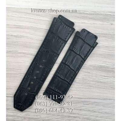 Ремешок для часов Hublot Leather Pattern Black (25х22 мм)
