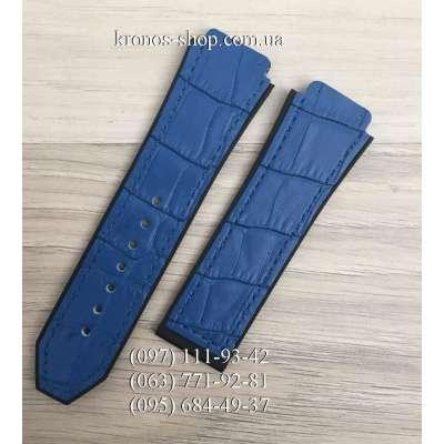Ремешок для часов Hublot Leather Pattern Blue (25х22 мм)