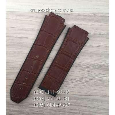 Ремешок для часов Hublot Leather Pattern Brown (25х22 мм)