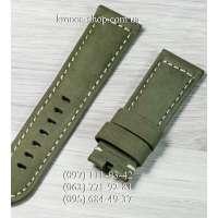 Ремешок для часов Officine Panerai Nubuck Military Green-Black (24х22 мм)