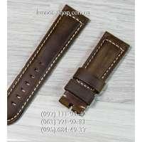Ремешок для часов Officine Panerai Nubuck Brown-Black (24х22 мм)
