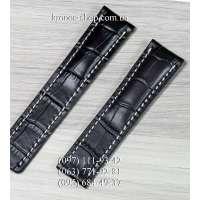Ремешок для часов Breitling Leather Black-White (22х20 мм)