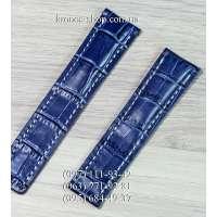 Ремешок для часов Breitling Leather Dark Blue-White (22х20 мм)