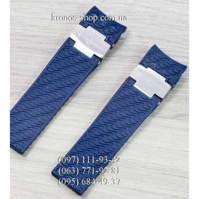 Ремешок для часов Ulysse Nardin Maxi Marine Diver Blue/Silver (22х20 мм)