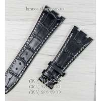 Ремешок для часов Audemars Piguet Leather Black-White (27x18 мм)