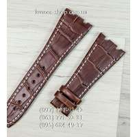 Ремешок для часов Audemars Piguet Leather Brown-White (27x18 мм)