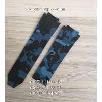 Ремешок для часов Hublot Camouflage Blue/Black (25х22 мм)