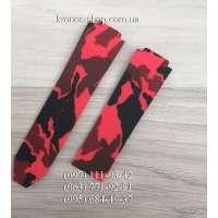 Ремешок для часов Hublot Camouflage Red/Black (25х22 мм)