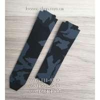 Ремешок для часов Hublot Camouflage Black/Blue (25х22 мм)