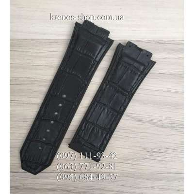 Ремешок для часов Hublot Leather Pattern Black (28х24 мм)