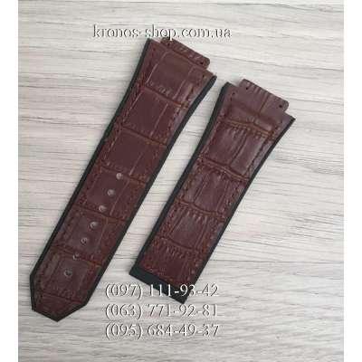 Ремешок для часов Hublot Leather Pattern Brown (28х24 мм)