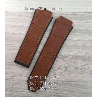 Ремешок для часов Hublot Leather Pattern Light Brown (25х22 мм)