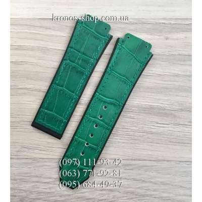 Ремешок для часов Hublot Leather Pattern Green (25х22 мм)