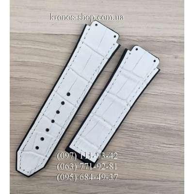 Ремешок для часов Hublot Leather Pattern White (25х22 мм)