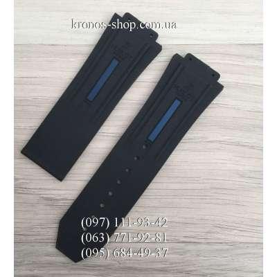 Ремешок для часов Hublot King Power Black/Blue (28х24 мм)