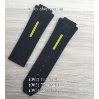 Ремешок для часов Hublot King Power Black/Yellow (28х24 мм)