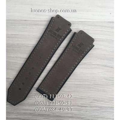 Ремешок для часов Hublot Nubuck Dark Gray (25х22 мм)
