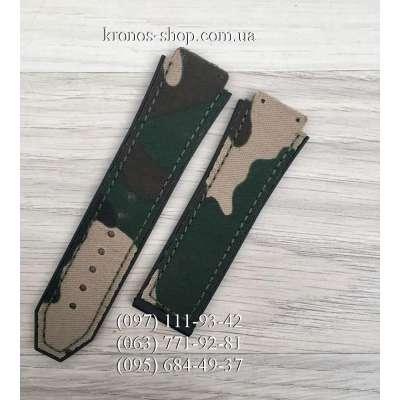 Ремешок для часов Hublot Textile Military Light Green (25х22 мм)