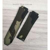 Ремешок для часов Hublot Textile Military Dark Green (25х22 мм)
