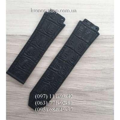 Ремешок для часов Hublot Leather Croco Black (25х22 мм)