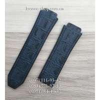 Ремешок для часов Hublot Leather Croco Blue (25х22 мм)