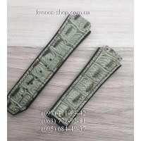 Ремешок для часов Hublot Leather Croco Gray (25х22 мм)